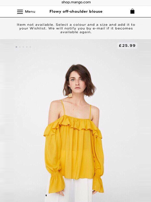 FLOWY OFF THE SHOULDER BLOUSE MANGO