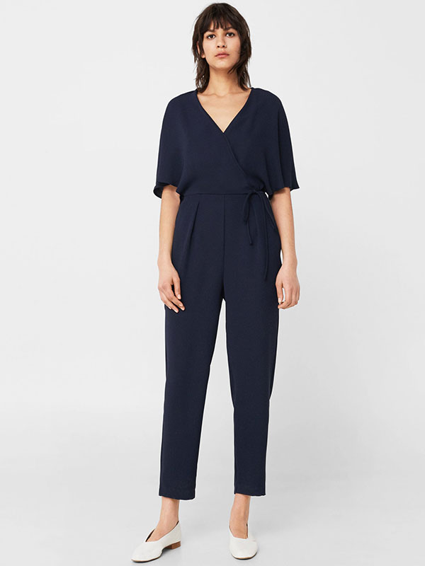Long wrapped jumpsuit MANGO