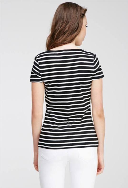 Áo kẻ sọc đen trắng Forever21