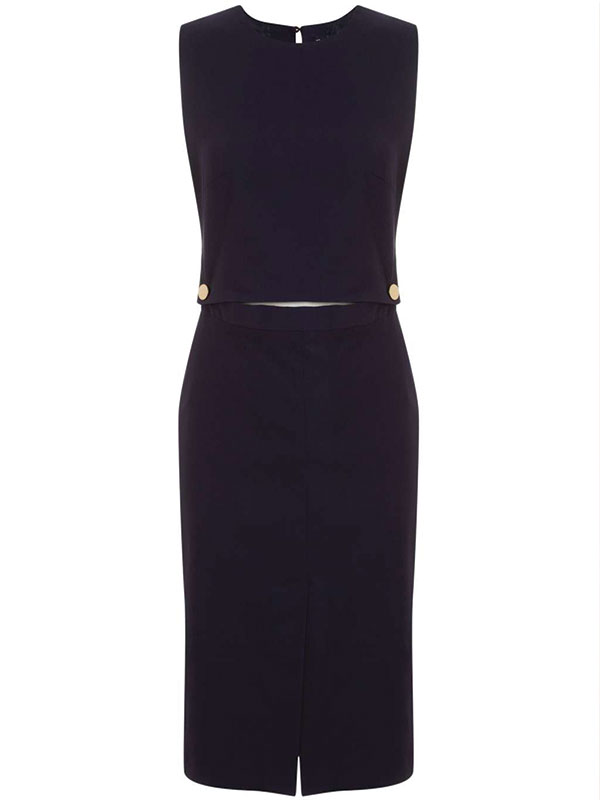 Button Detail Dress by Miss Selfridge