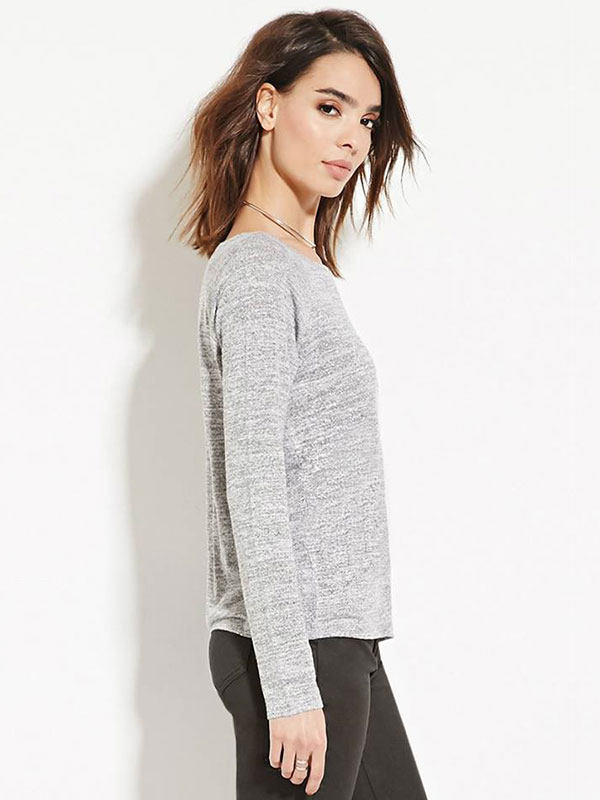 Contemporary Marled Knit Top Forever 21