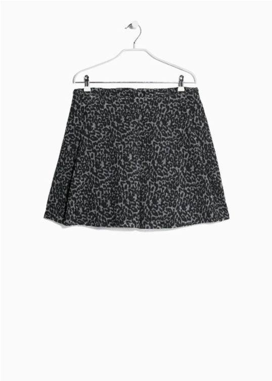 Leopard Flared Skirt MANGO