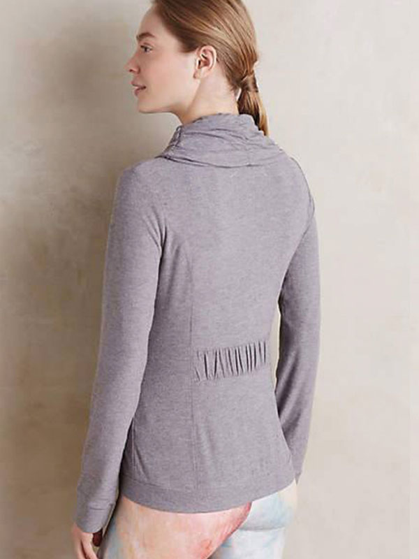 Ruched Zip-Front Hoodie by Pure&Good