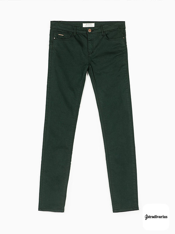 STRADIVARIUS ELASTICATED PUSH UP TROUSERS