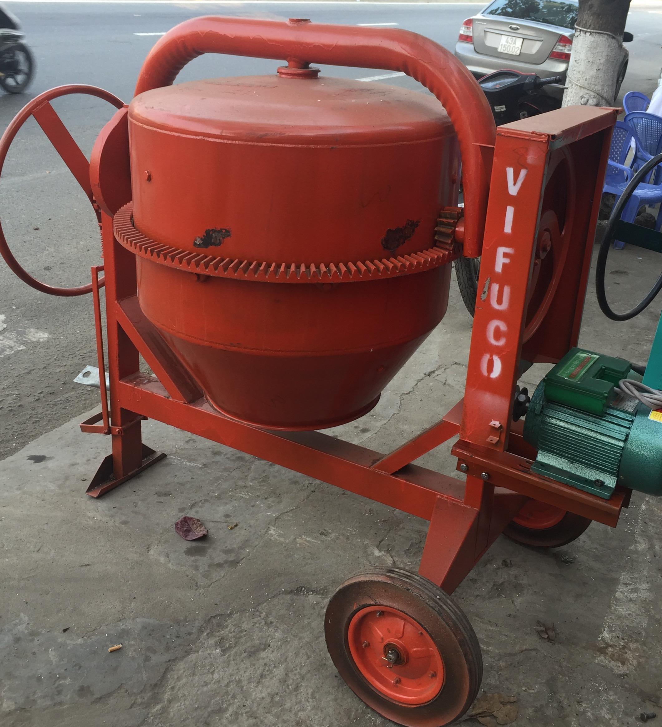 Máy trộn bê tông Vifuco 350L + Động cơ điện TS 4HP