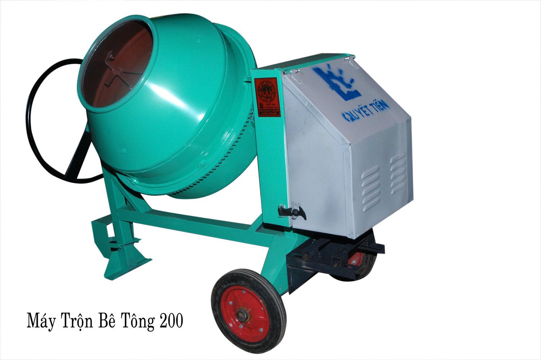 Máy trộn bê tông 200L (1/2 bao)