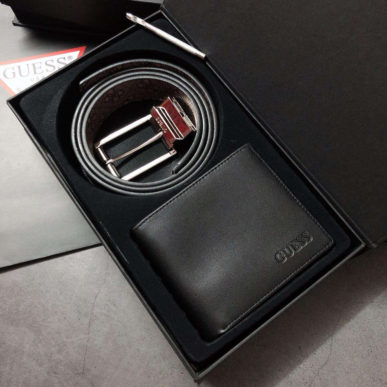 Set Guess ví trơn + nịt gài dây vân  - S102