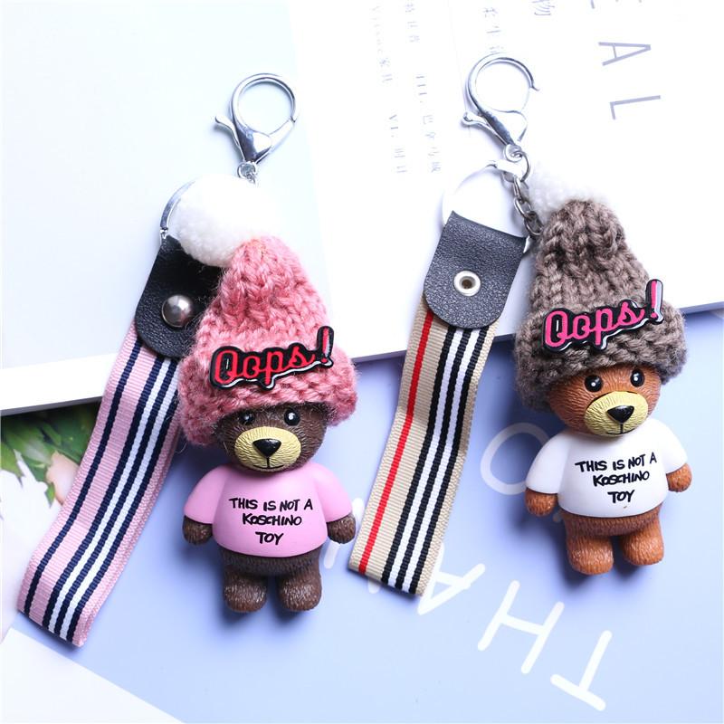 Móc khóa gấu nón len - PK48