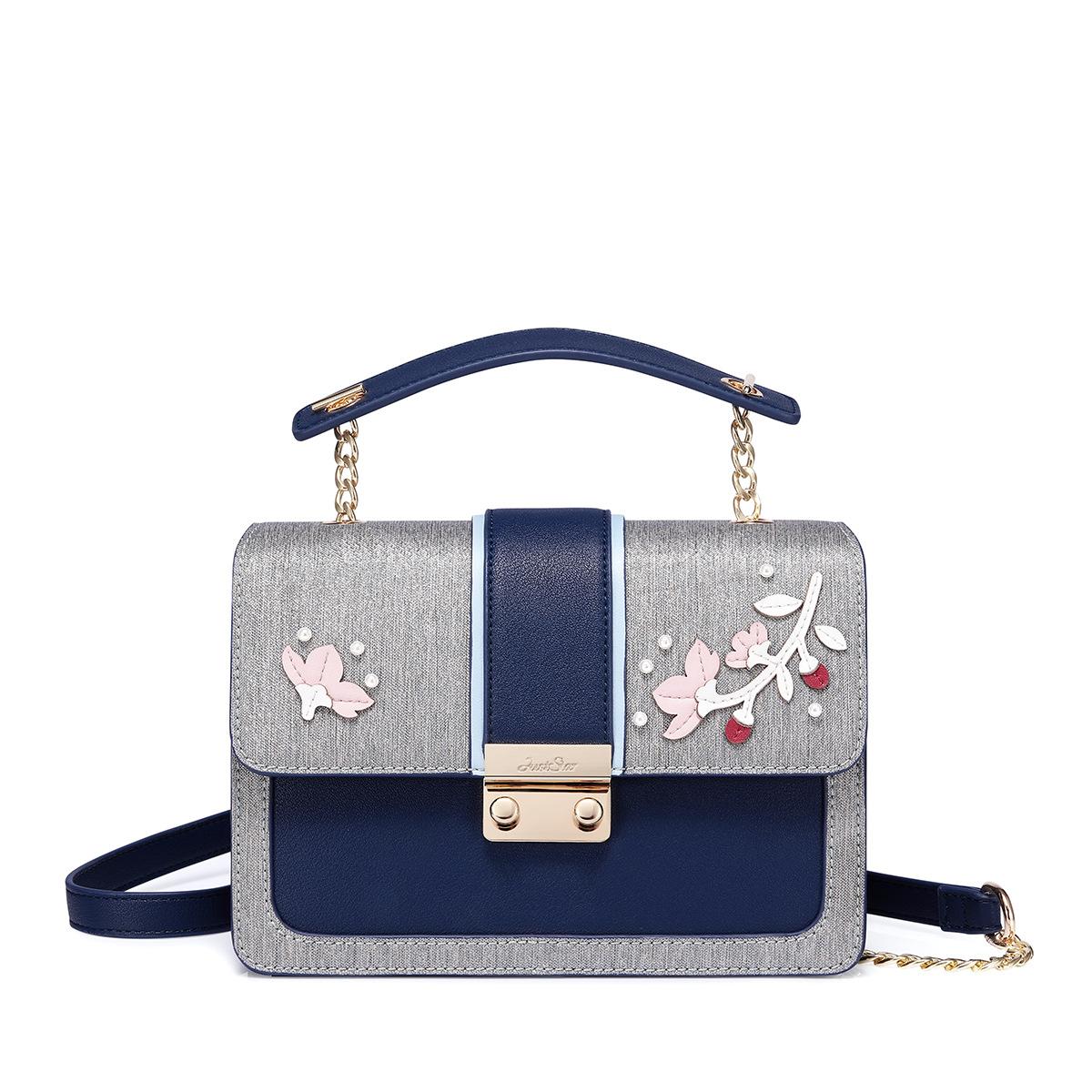 Túi Just Star hộp khóa gài đính hoa - JS57