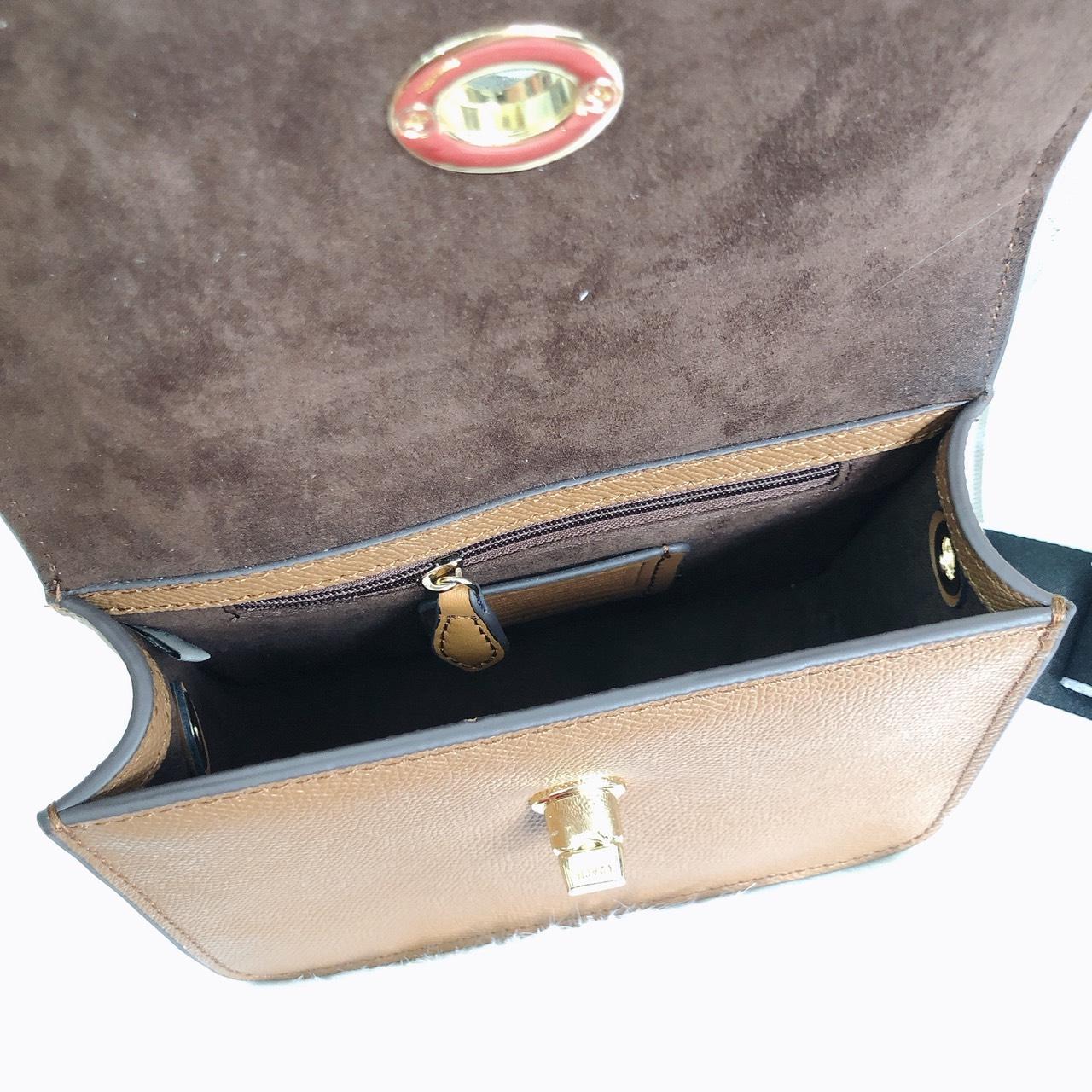 Túi Coach hộp mini sọc gân - C052