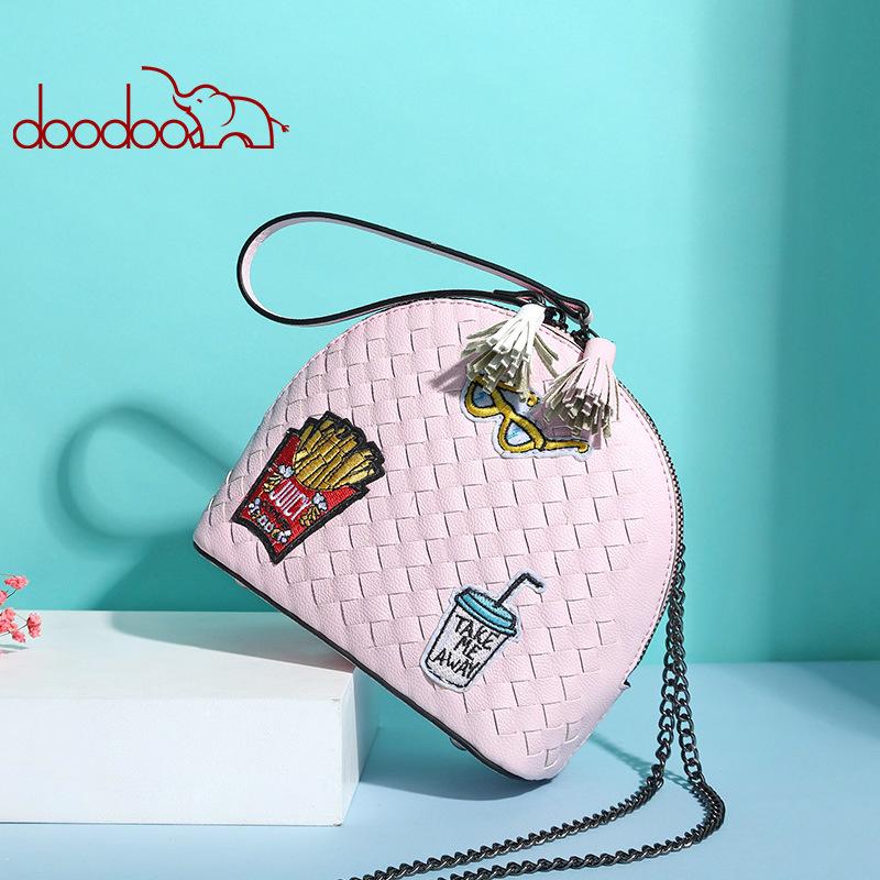 Túi Doodoo bán nguyệt đan chéo - D030