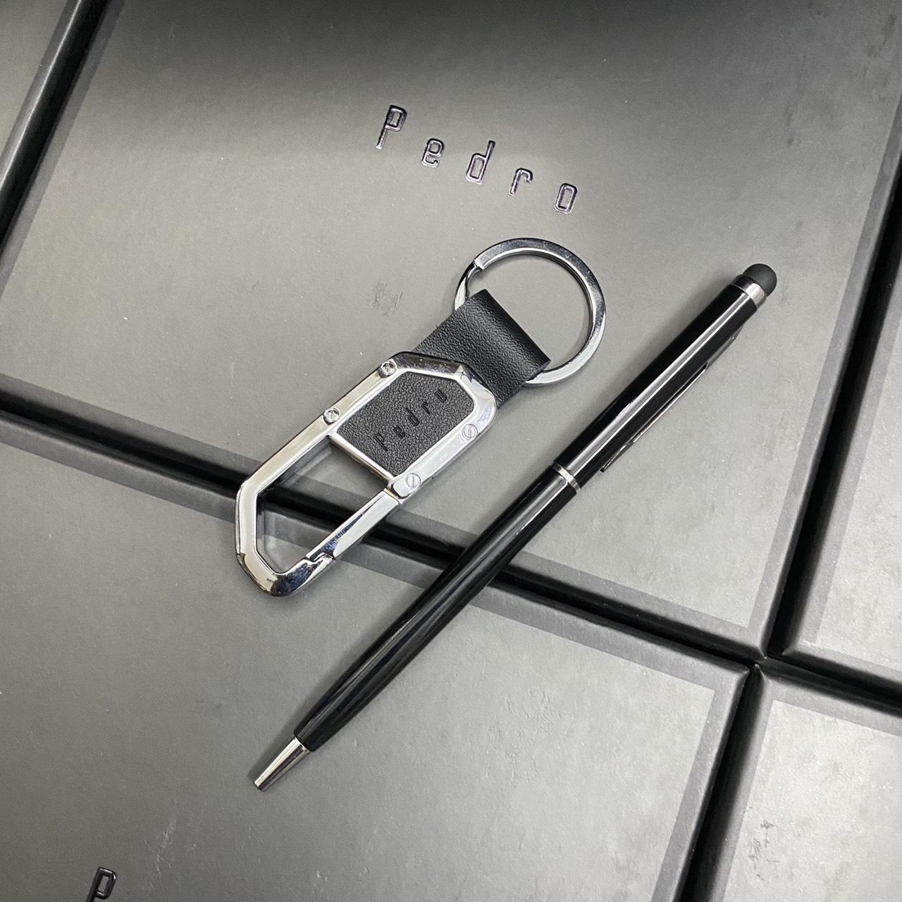 Set Pedro ví trơn + bút + khóa - SP01