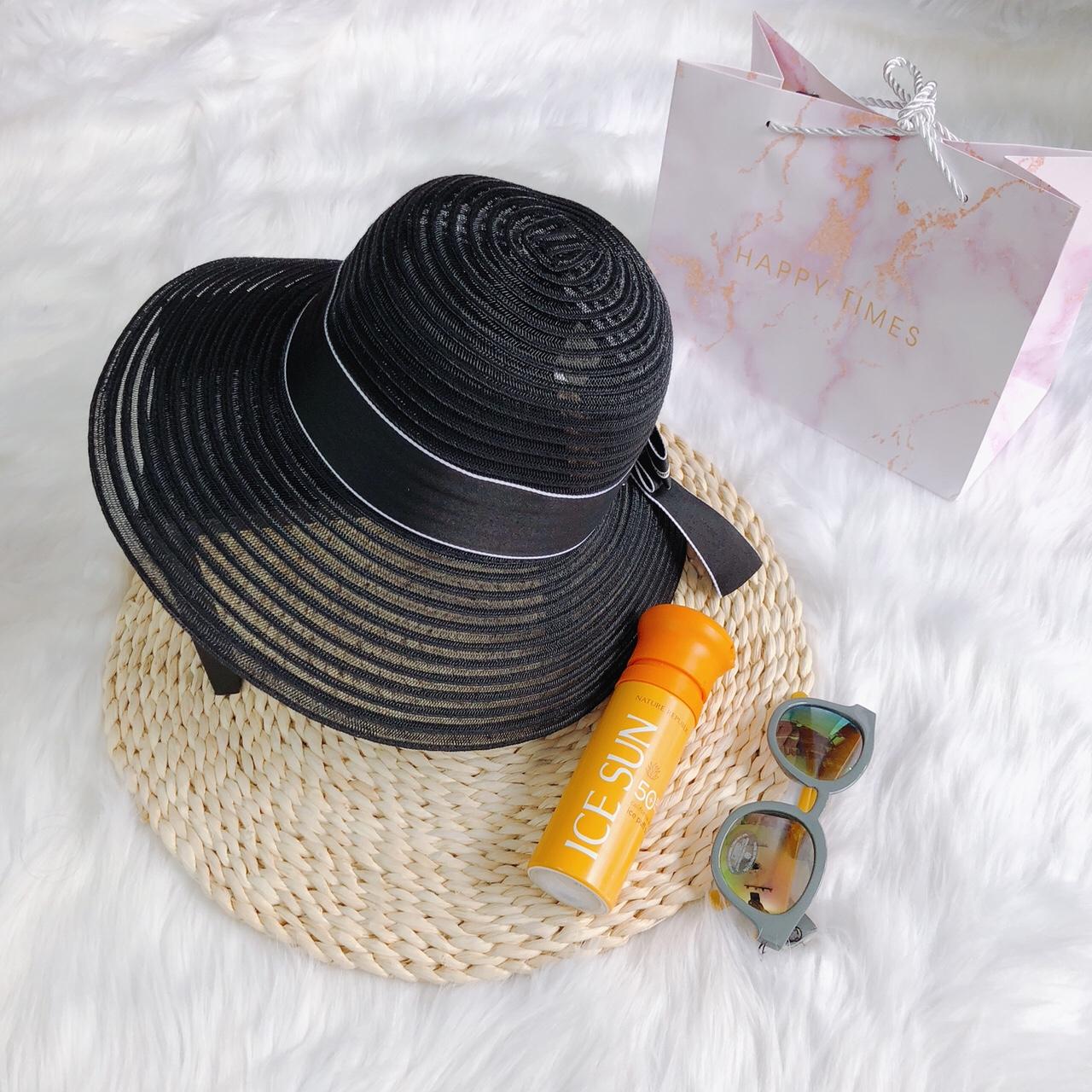 Nón lưới đính nơ Dior - PK72