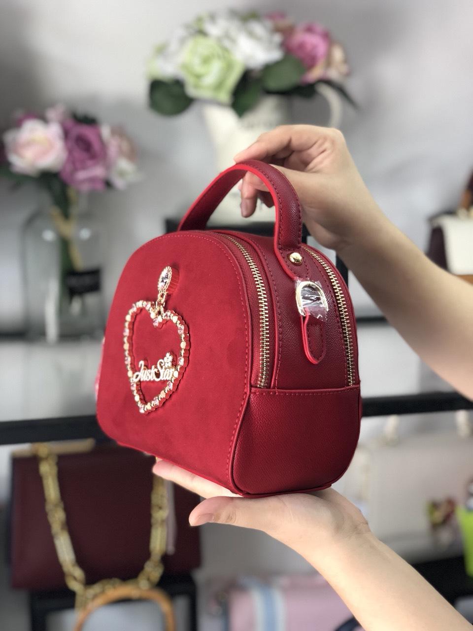 Túi Just Star bán nguyệt khóa trái tim - JS62