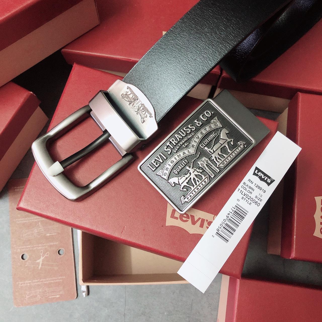 Nịt Levis 2 khóa gài + vuông logo dây - NN207