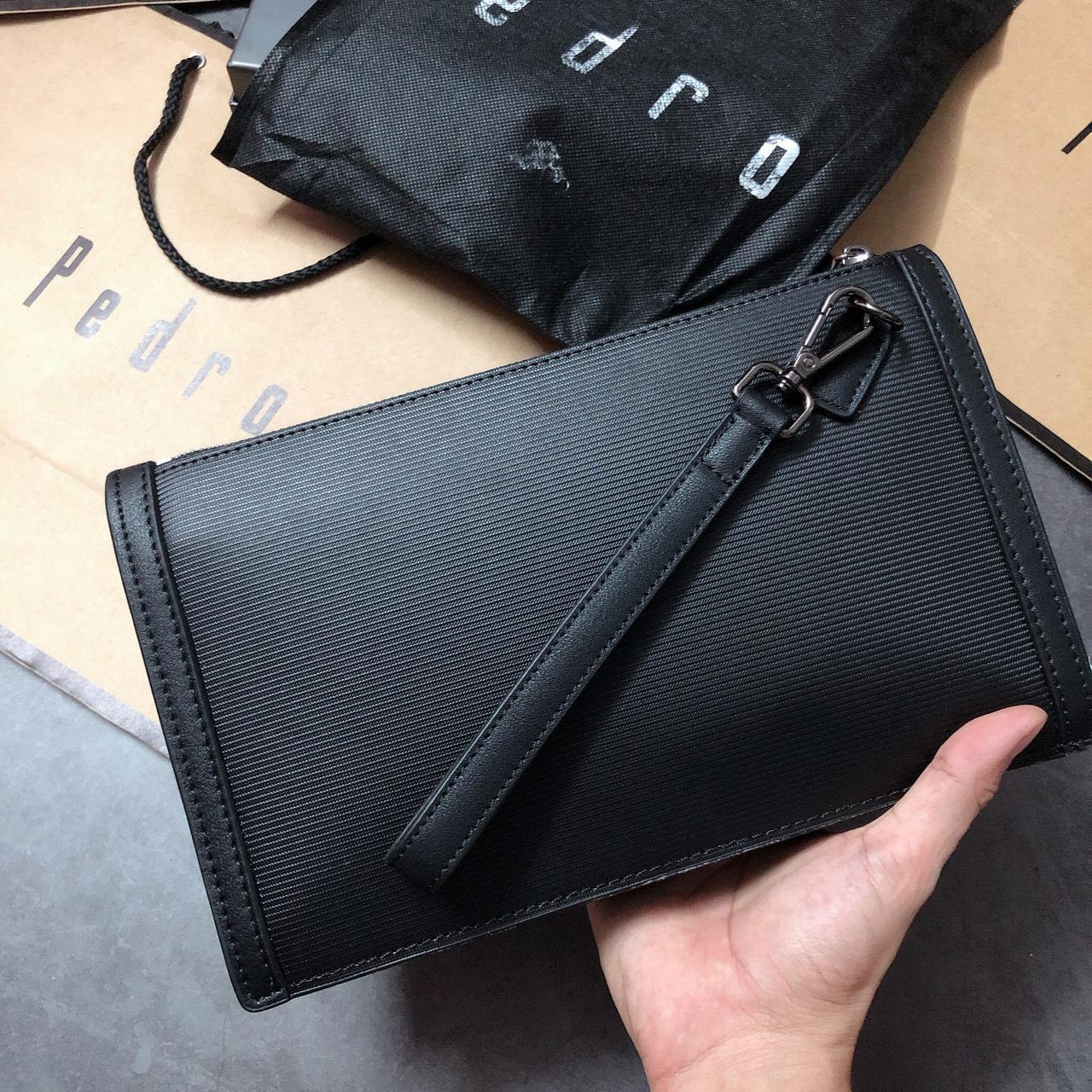 Túi Pedro clutch 2 ngăn khóa gài - PM10