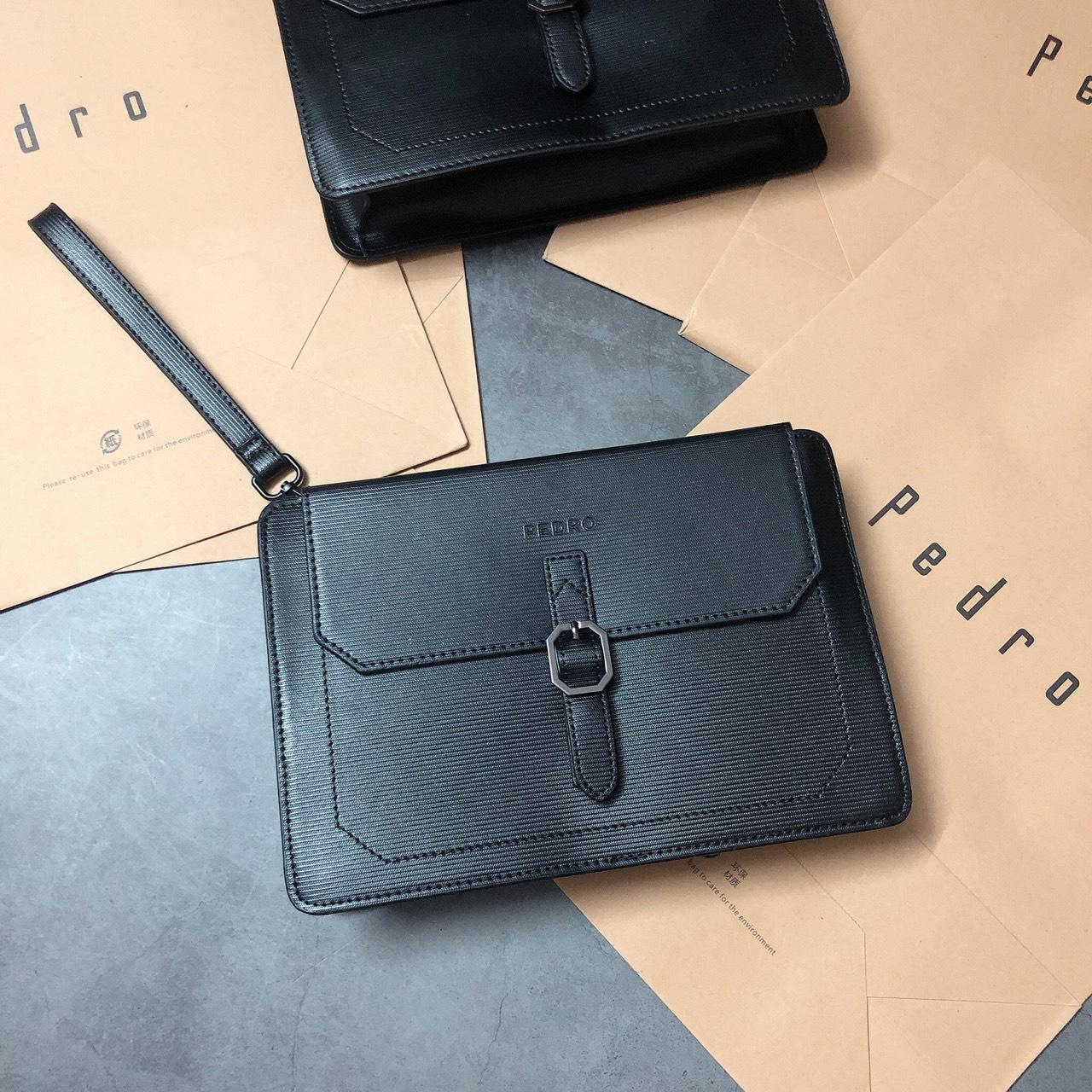 Túi clutch Pedro khóa lục giác - PM16