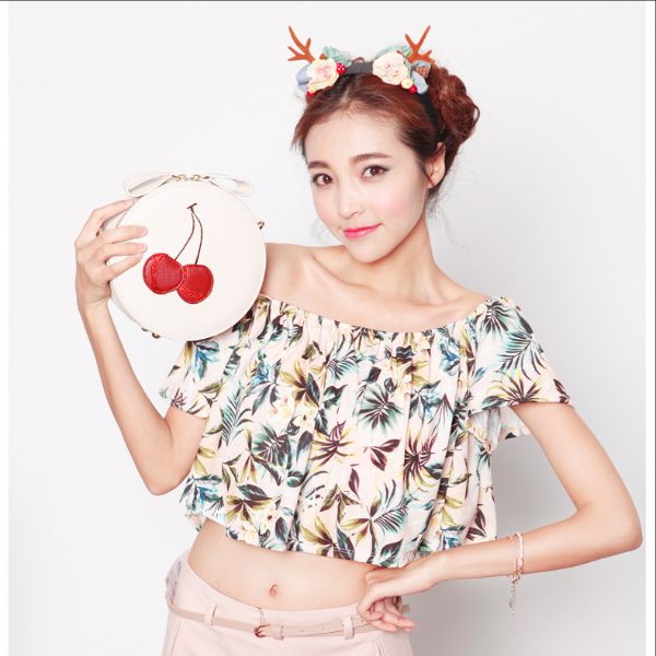 Túi BaoBao tròn cherry- XK692