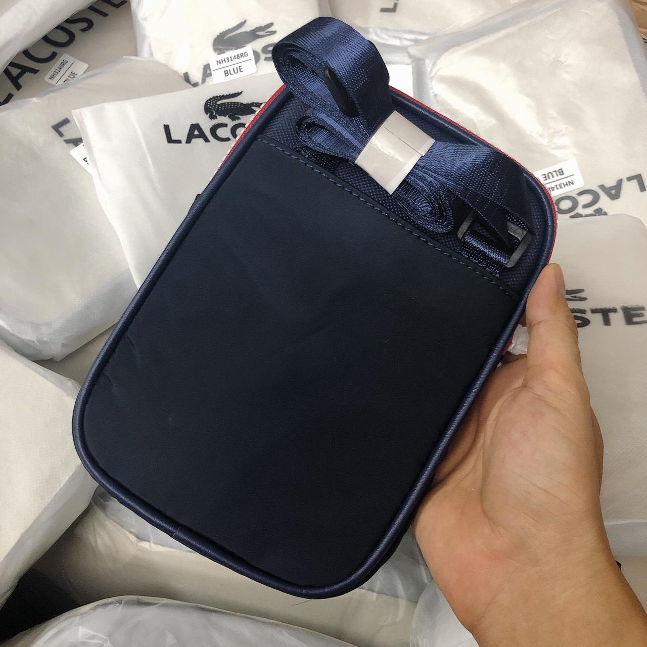 Túi Lacoste đeo chéo bầu trơn - XK821
