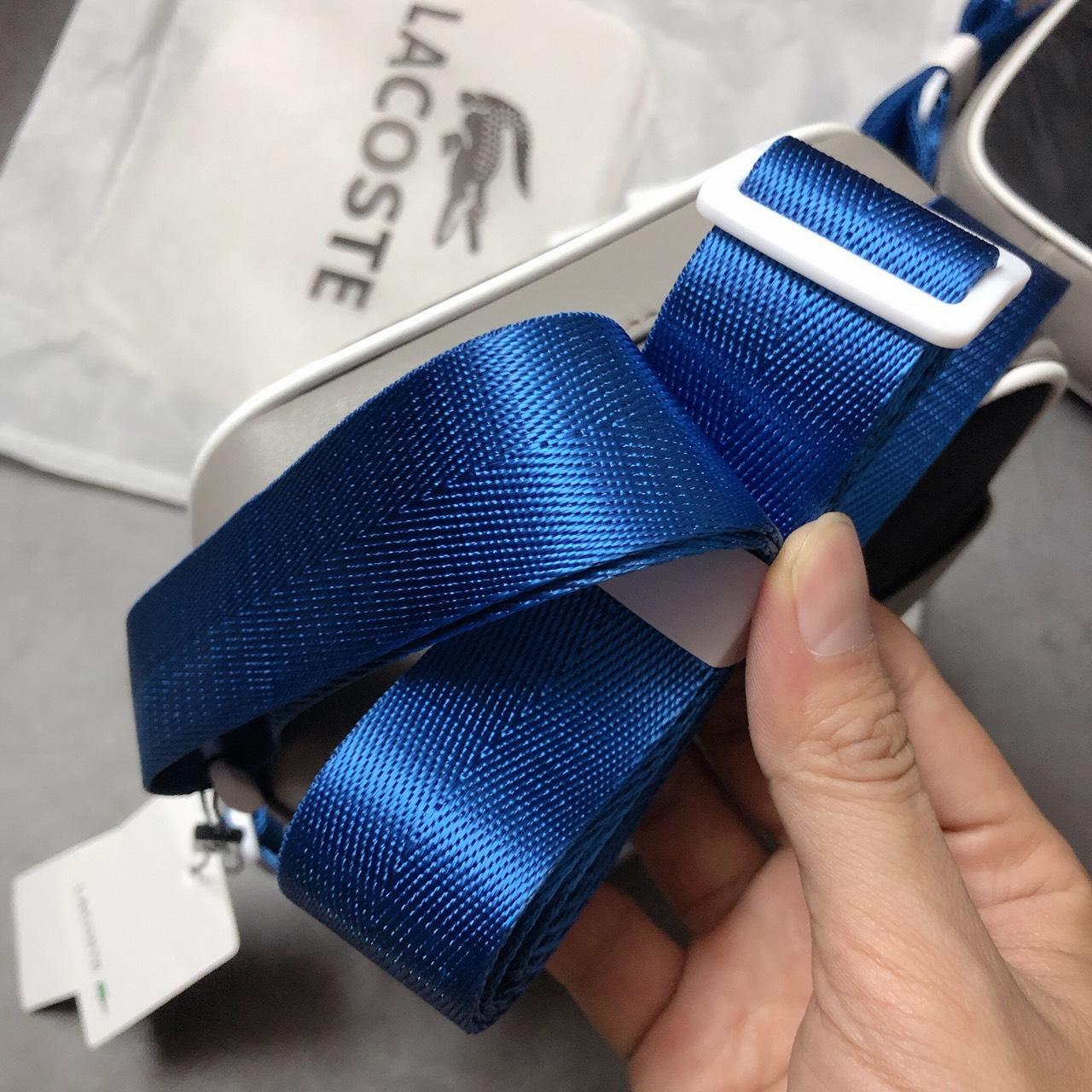 Túi Lacoste mini xám đen - XK830