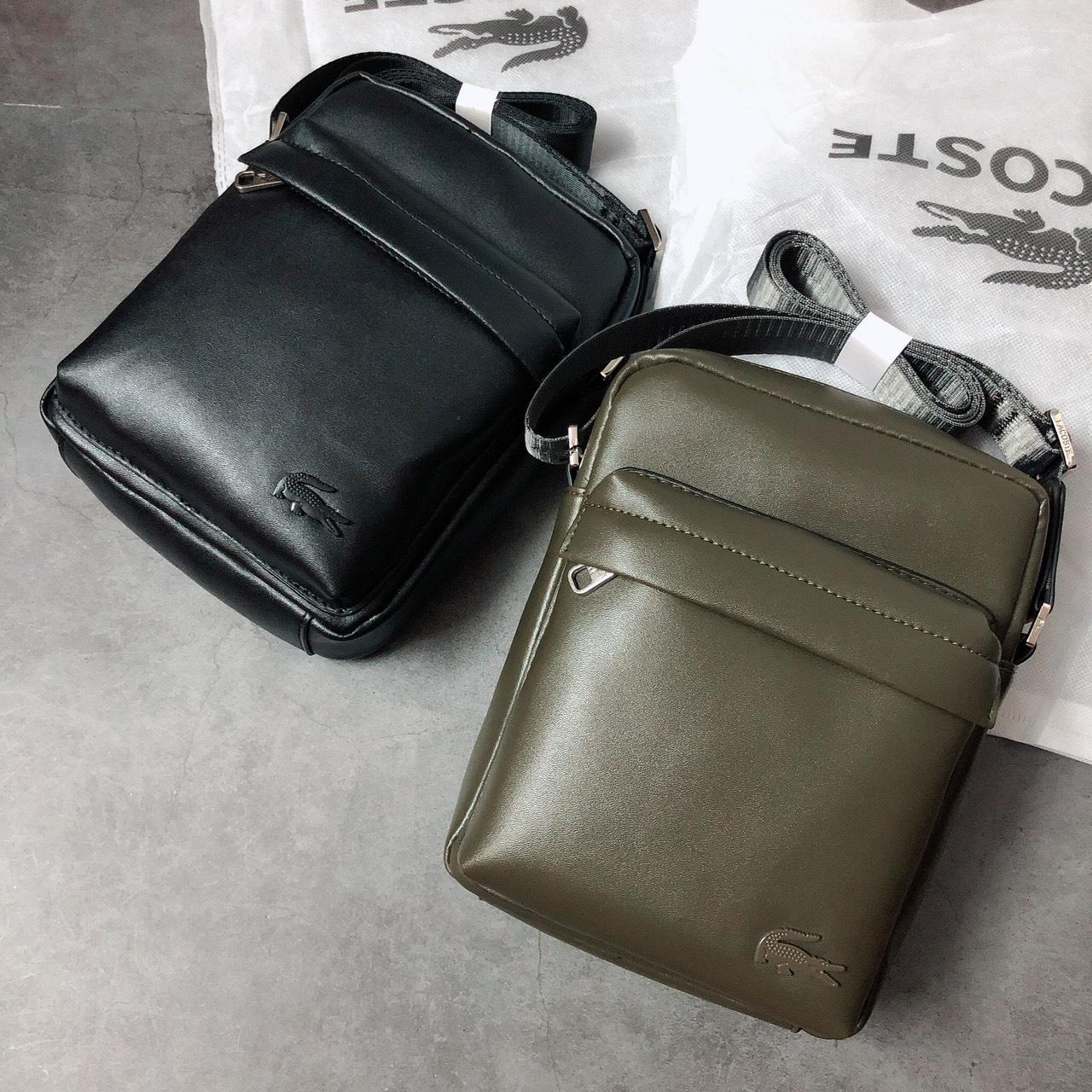 Túi Lacoste đeo chéo 2 ngăn trơn - XK834