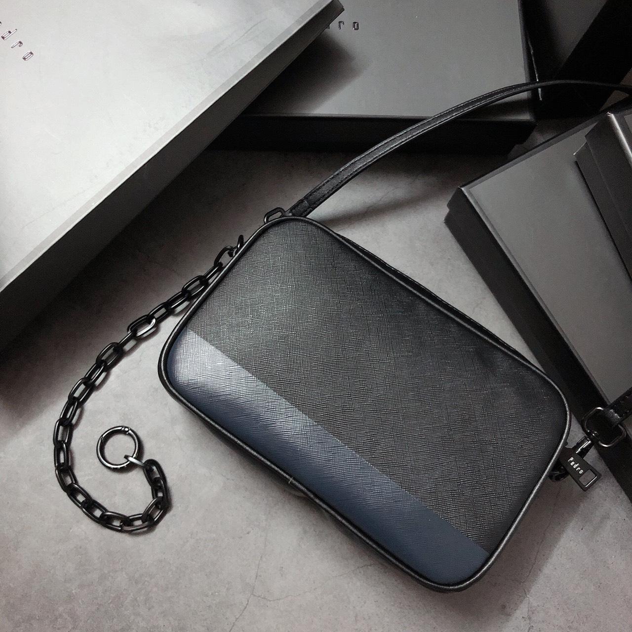 Túi Pedro hộp ngang 2 ngăn dây khóa - PM21