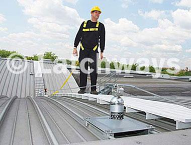 Hệ thống chống trượt ngã dùng trên mái