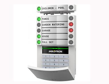 Bảng điều khiển có dây với đầu đọc từ và bàn phím JABLOTRON JA-114E