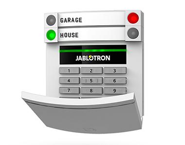 Bảng điều khiển có dây với đầu đọc từ và bàn phím JABLOTRON JA-113E