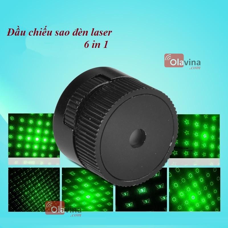 Đầu chiếu sao đèn Laser 6 in 1