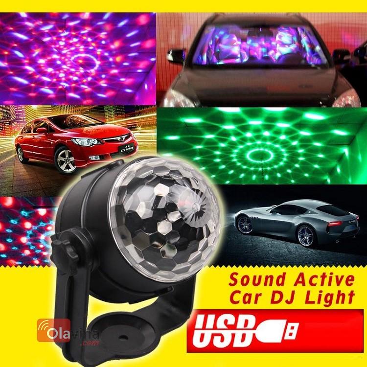 Đèn DJ cảm biến âm thanh cho ô tô