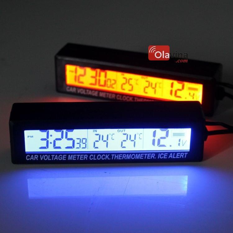 Đồng hồ đo nhiệt độ, điện áp trên ô tô EC88