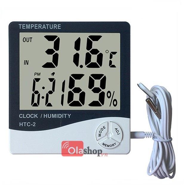 Đồng hồ đo nhiệt độ, độ ẩm HTC - 2