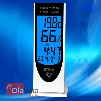 Đồng hồ đo nhiệt độ, độ ẩm trong nhà HTC - 8