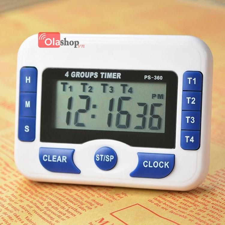 Đồng hồ hẹn giờ đếm ngược 4 kênh