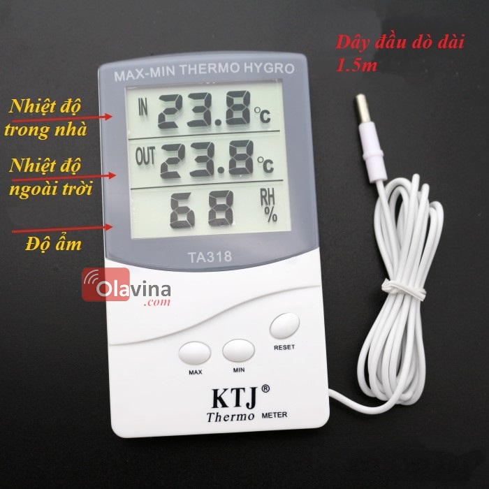 Nhiệt ẩm kế điện tử TA318