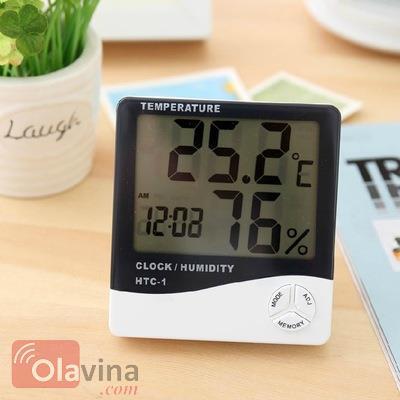 Đồng hồ đo nhiệt độ, độ ẩm trong nhà HTC-1