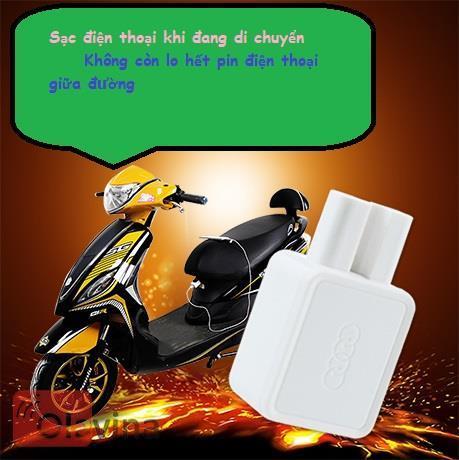 Sạc điện thoại trên xe đạp điện V1
