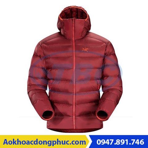 Áo khoác gió ba lớp đỏ bã trầu