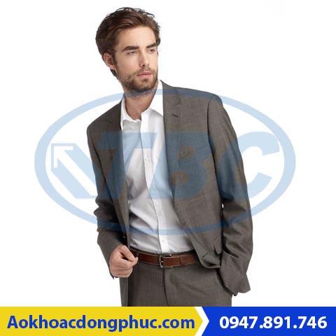 Vest nam công sở màu nâu vàng cho quý ông trung niên