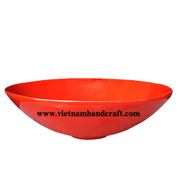 Lacquered decor bowl in orange