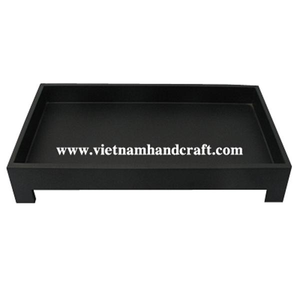 Matte black lacquerware snack tray