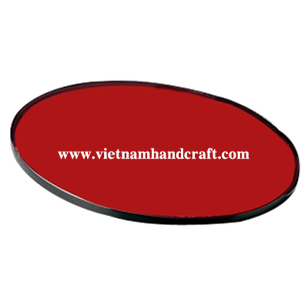 Black & red wooden lacquerware cake tray