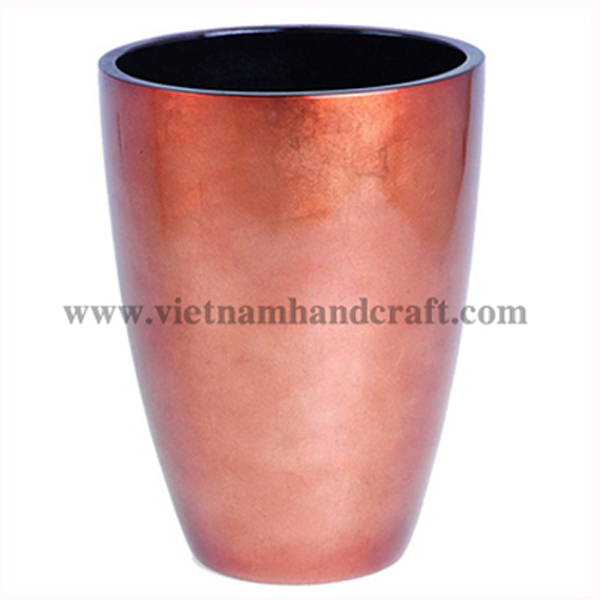 Lacquered dry flower in silver metallic pink