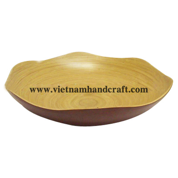 Flower shaped lacquer bamboo bowl