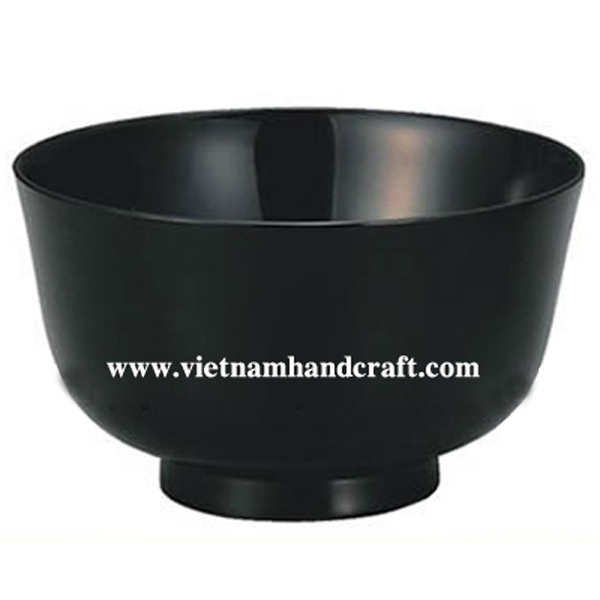 Black lacquered sweet bowl