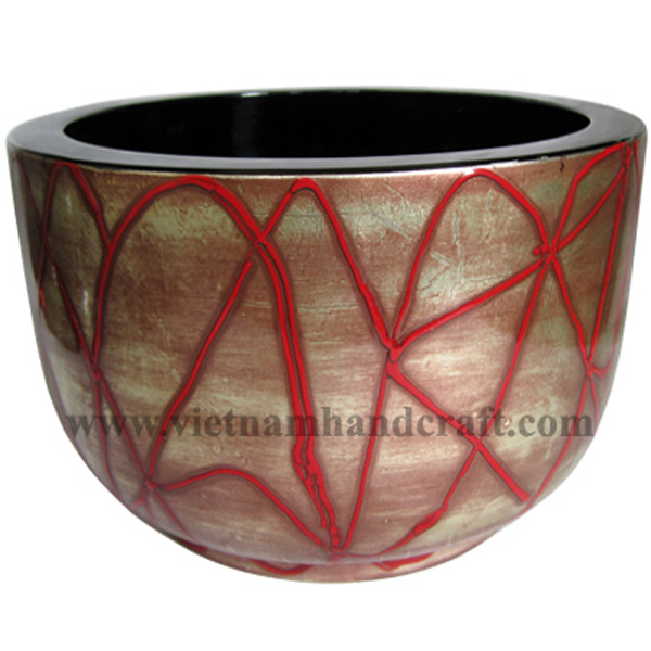 Lacquered wood decoration bowl