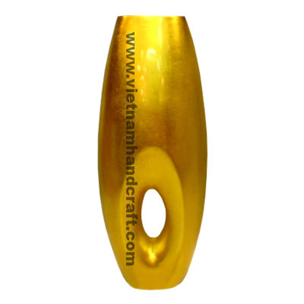 Gold silver lacquered decor vase