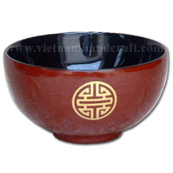 Lacquered bowl with Chinese character