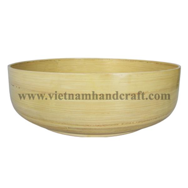 Natural coiled bamboo storage bowl